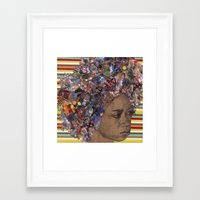 afro Framed Art Prints featuring Afro by Chris McArdle