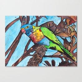 Lorikeet In The Tree Canvas Print