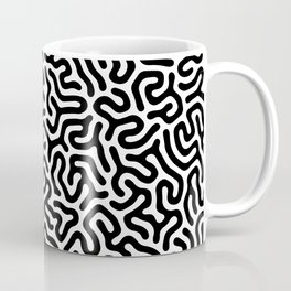 Black and White Organic MAZE Pattern Coffee Mug