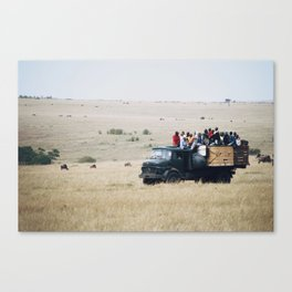 Truck in Africa Canvas Print