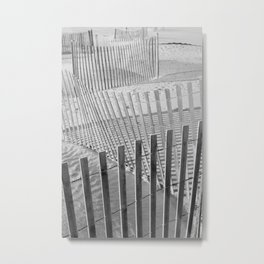Dune Fence Metal Print