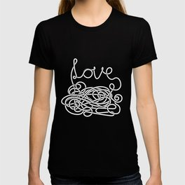 Spaghetti Love in Black and White T-shirt
