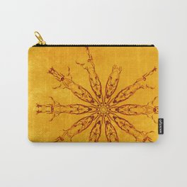 Smoke flowers on textured yellow Carry-All Pouch