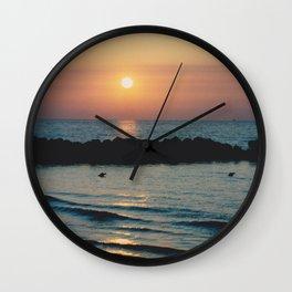 Sunset Ocean Bliss #1 #nature #art #society6 Wall Clock