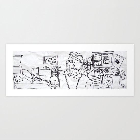 Office Life Art Print