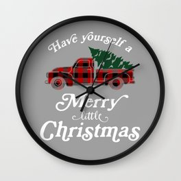 Have yourself a Merry little Christmas Vintage Truck Wall Clock
