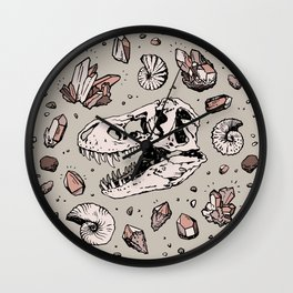 Geo-rex Vortex | Rose Quartz Wall Clock