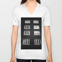 norway V-neck T-shirts featuring Facade in Trondheim, Norway by Archilse