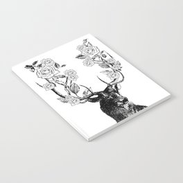 The Stag and Roses | Black and White Notebook