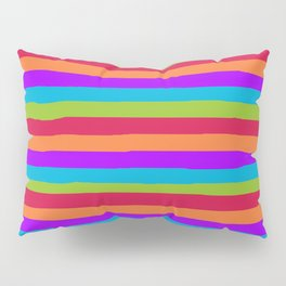 lumpy or bumpy lines abstract and summer colorful - QAB273 Pillow Sham