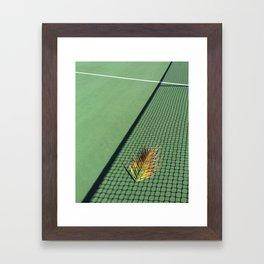 TENNIS COURT Framed Art Print