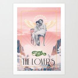 The Lovers Tarot Art Print