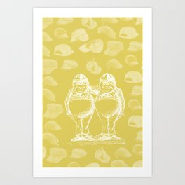 Tweedledum, Tweedledee and Caps Art Print