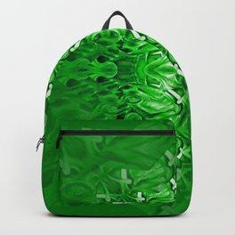 Velvet Splash Star Green Mandala Backpack