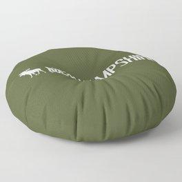 New Hampshire Moose Floor Pillow