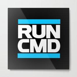 run CMD Metal Print
