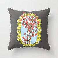 frame Throw Pillows featuring Frame  by nandita singh
