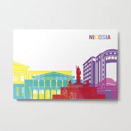 Nicosia skyline pop Metal Print