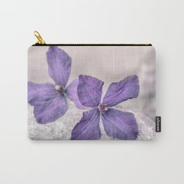 Zen Soft Pastel Purple Clematis Blossom Carry-All Pouch