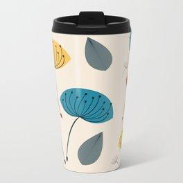 Dandelions in the wind Metal Travel Mug