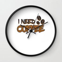 Coffee Accessories Wall Clock