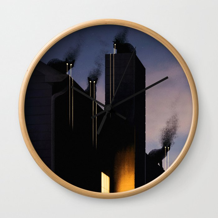 Omens Wall Clock