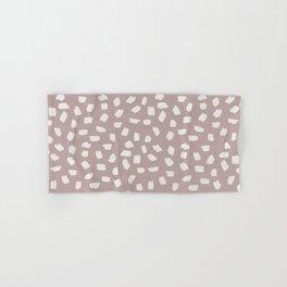 Simply Ink Splotch Lunar Gray on Clay Pink Hand & Bath Towel