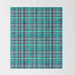 Teal Plaid Throw Blanket