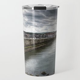 Stormy Skies Over Whitby Travel Mug