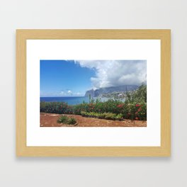 beautiful coast line Framed Art Print