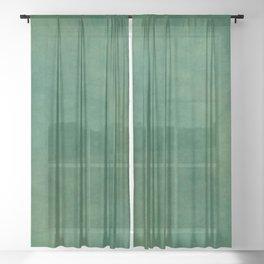 """Porstroke, Teal Shade Pattern"" Sheer Curtain"