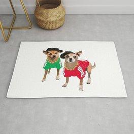 Chihuahua Dogs Run DMChi Rug