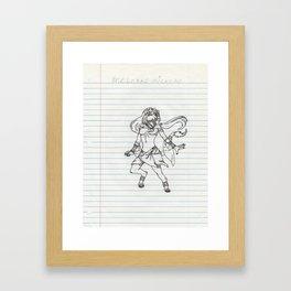 Lioness Princess Framed Art Print