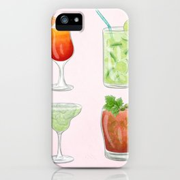 Summer Cocktails 4 iPhone Case
