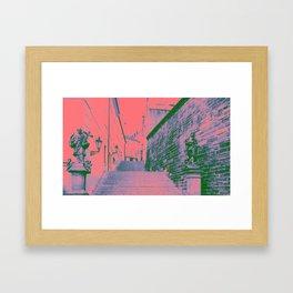 Pink Prague Framed Art Print