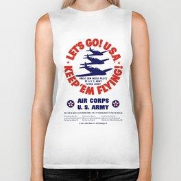 Let's Go U.S.A. -- Keep 'Em Flying Biker Tank