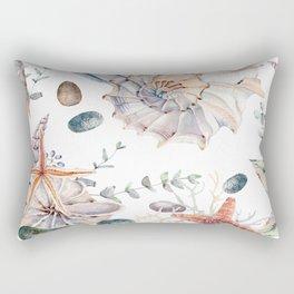 Sand and shells Rectangular Pillow