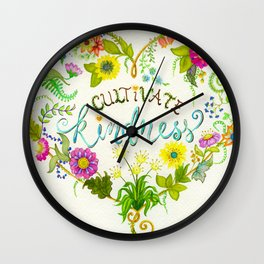 Cultivate Kindness Wall Clock