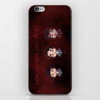 ahs iPhone & iPod Skins featuring AHS Hotel: Justin by Sunshunes