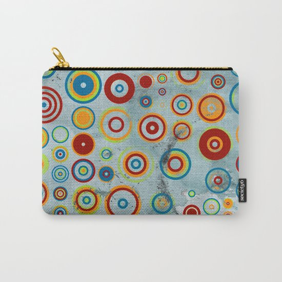 retro circles Carry-All Pouch