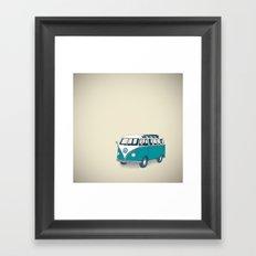 VW Campervan II Framed Art Print