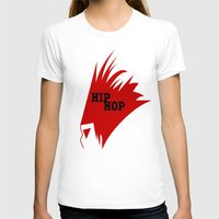 hiphop T-shirts featuring HIPHOP RED  by Robleedesigns