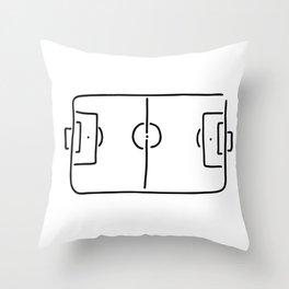 soccer football field Throw Pillow