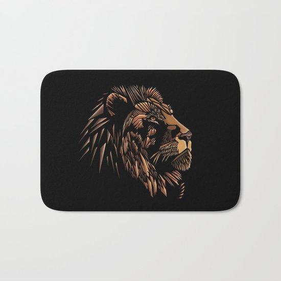Lion Abstract Illustration Bath Mat