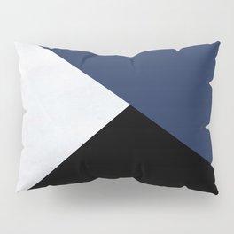 Colour Block Marble Blue Pillow Sham
