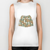 pineapples Biker Tanks featuring Pineapples by Stephany Moreno