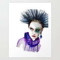 clown Art Prints featuring Clown by Andreea Maria Has