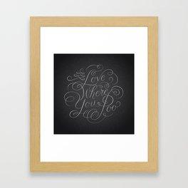 Love Where You Poo - Gray Framed Art Print