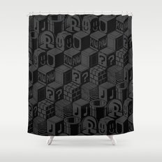 SUPER MARIO BLOCK-OUT! Shower Curtain