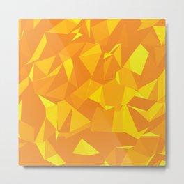 Yellow Geometric Pattern Metal Print